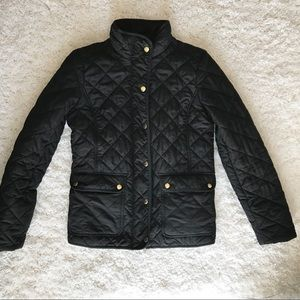 J. Crew Quilted Jacket with gold details